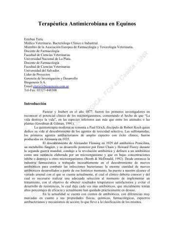 Terapéutica Antimicrobiana en Equinos - Facultad de Ciencias ...