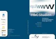 E-Commerce in Franchisesystemen: Status-Quo im B2C - F&C