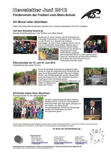 Newsletter Juni 2012 - Freiherr-vom-Stein-Schule
