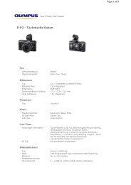 E-P2 - Technische Daten Page 1 of 6 - Foto Basler Aarau
