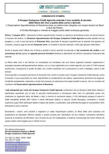 Scarica il comunicato stampa - Cariparma
