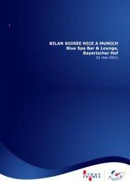BILAN SOIRÉE NICE A MUNICH Blue Spa Bar & Lounge ...