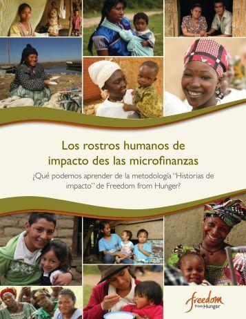 Los rostros humanos de impacto des las microfinanzas