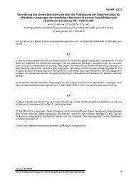 Verordnung des Umweltministeriums über die Festsetzung der ...