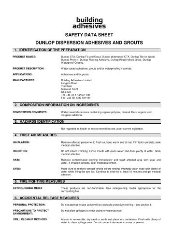 Safety Data Sheet No Nonsense Grab Adhesive Solvent Based