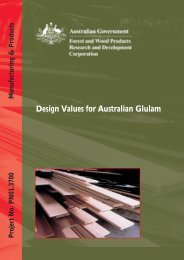 Design Values for Australian Glulam - Forest and Wood Products ...