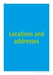 Locations and addresses - Annual Report 2011