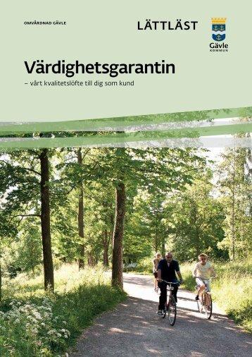 Värdighetsgaranti lättläst version - Gävle kommun