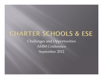 Charter Schools and ESE - Florida Department of Education