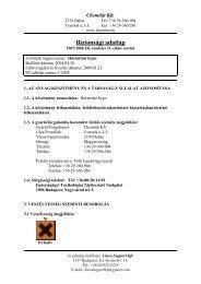 Háztartási Hypo Galatea(REACH) - Galatea Kft.