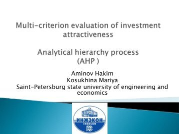 Analytical Hierarchy Process ( AHP ) - FRUCT