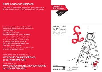 Small Loans for Business Small Loans for Business - Federation of ...