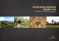 Officer Native Vegetation Precinct Plan - Growth Areas Authority