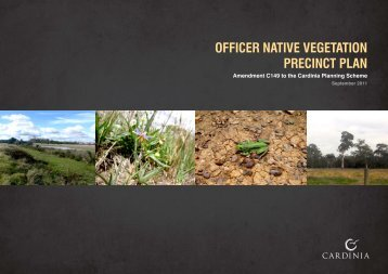 Officer Native Vegetation Precinct Plan - Growth Areas Authority