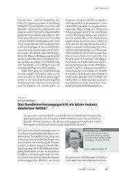 Das Bundesverfassungsgericht als letzte Instanz deutscher Politik?