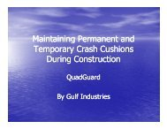 Maintaining Crash Cushions - Gulf Industries