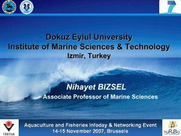 Dokuz Eylul University Institute of Marine Sciences & Technology