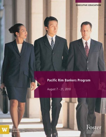 Pacific Rim Bankers Program - University of Washington Foster ...