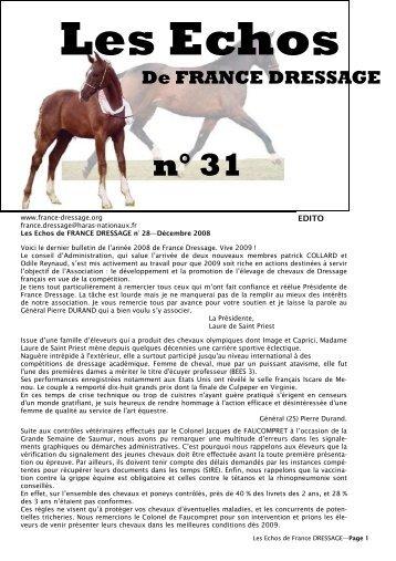 Les Echos N° 31 (pdf) - France Dressage