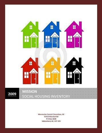 Mission Social Housing Inventory 2009 - Fraser Valley Regional ...