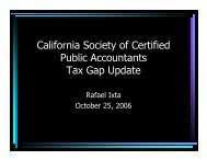 Tax Gap Update - California Franchise Tax Board