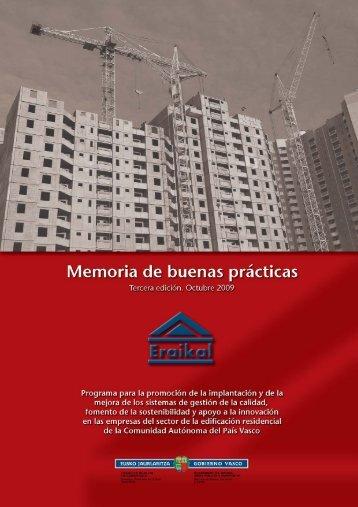 Memoria de buenas prácticas. Octubre 2009 - Garraioak - Euskadi.net