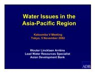 Water Issues in the Asia-Pacific Region - Forest Trends