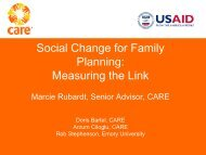 Social Change for Family Planning: Measuring the Link