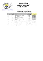 Jugend-Staffellauf - Gautinger Sportclub e.V.