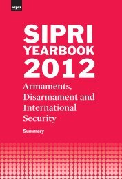 SIPRI Yearbook 2012: Armaments, Disarmament and International ...
