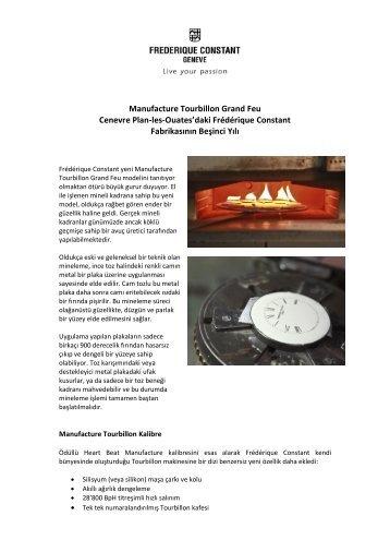 Manufacture Tourbillon Grand Feu Cenevre Plan-les-Ouates'daki ...