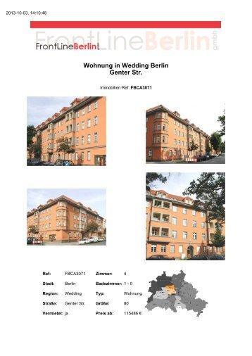 Wohnung in Wedding Berlin Genter Str. - Front Line Berlin GmbH