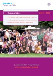 Dokumentation 2005 – 2009 - Frankfurt - Soziale Stadt - Neue ...
