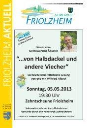 Blättle KW 18 - Friolzheim