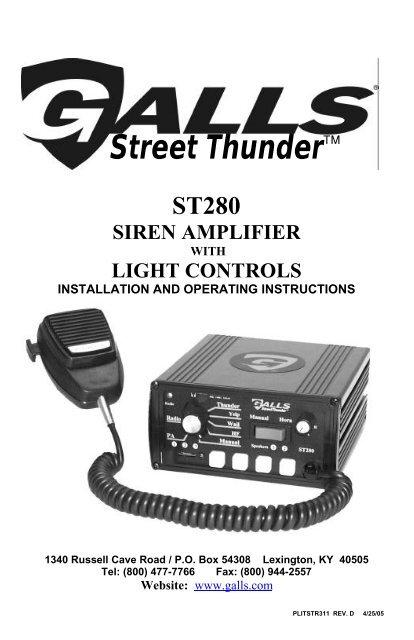 Galls Street Lightning Wiring Diagram  Galls Light Wiring