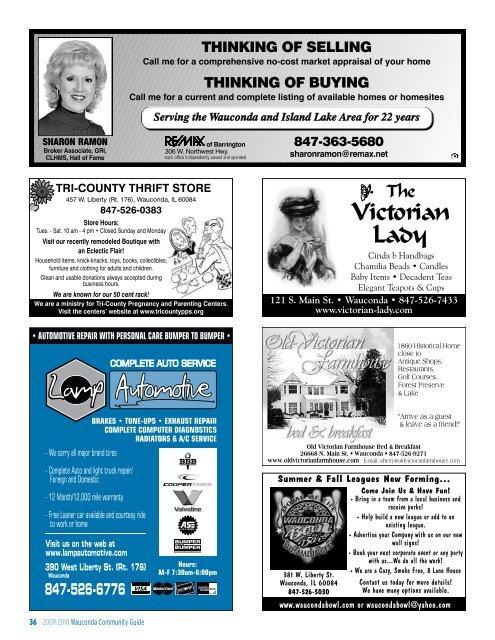 2009 Wauconda Community Guide - Pioneer Press Communities ...