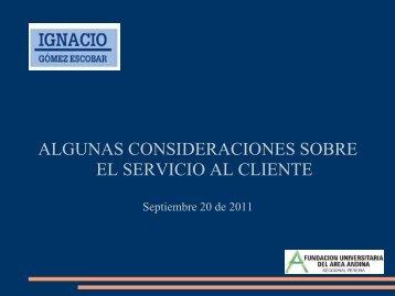 ALGUNAS CONSIDERACIONES SOBRE EL SERVICIO AL ...