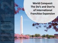 World Conquest - International Franchise Association