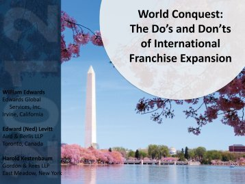 World Conquest - International Franchise Association