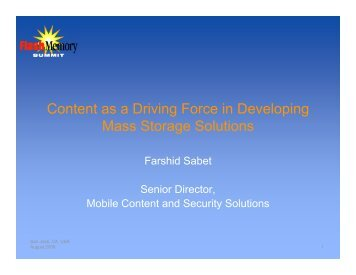 Mobile Content - Flash Memory Summit