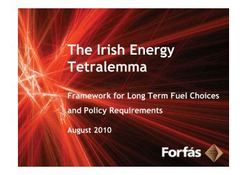 The Irish Energy Tetralemma - Summary Presentation - Forfás