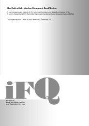 Book of short abstracts - iFQ Institut für Forschungsinformation und ...