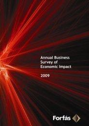 Annual Business Survey Of Economic Impact 2009 - Forfás