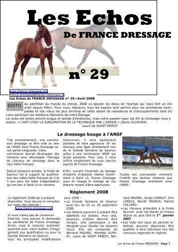 Les Echos N° 29 (pdf) - France Dressage