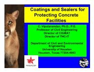 Coatings and Sealers for Protecting Concrete Facilities - Foundation ...
