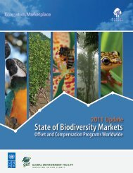 State of Biodiversity Markets - Global Environment Facility