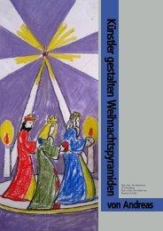 Künstler gestalten W eihnachtspyram iden - Galerie Laterne