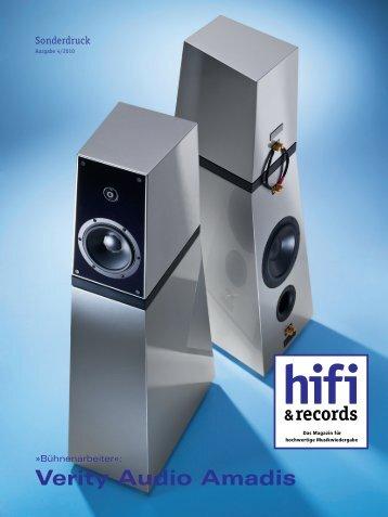hifi & records 04/10 - Verity Audio Amadis