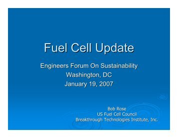 Fuel Cell Update - Fuel Cells 2000