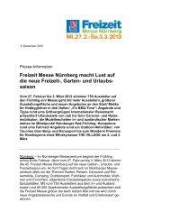 Freizeit Messe 2013 - AFAG Messen und Ausstellungen GmbH